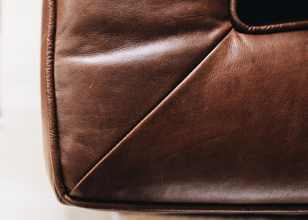 Is this a hospital corner? The Cigar looks even more rugged and charming up close. Read on to learn more about how to care for your leather furniture.
