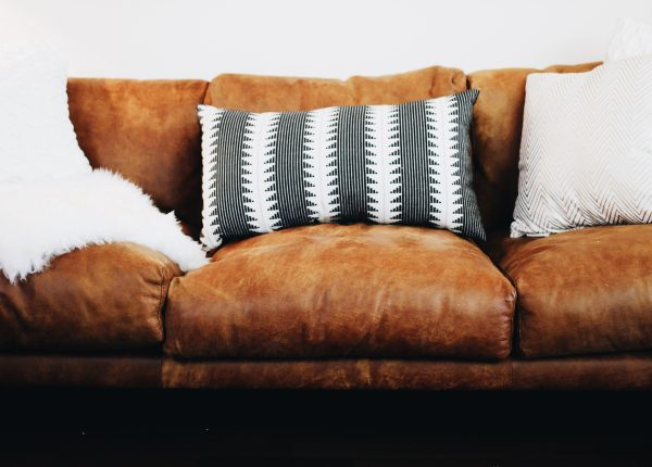Take me to Nirvana... the sofa, of course. We love the distressed look of the Nirvana's semi-aniline leather.