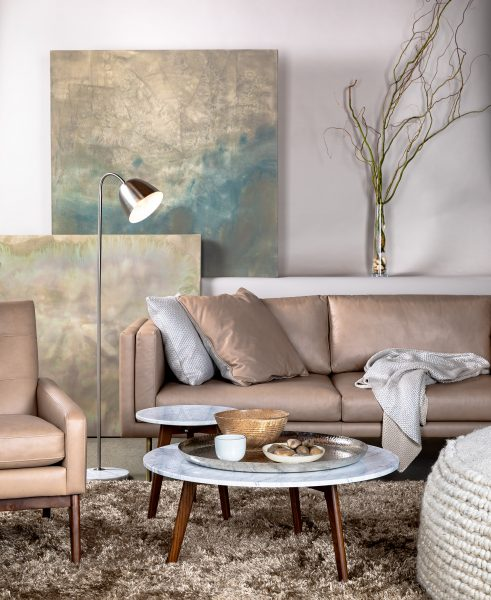 The Belez Sofa In Mink Taupe Looking Cool And Elegant
