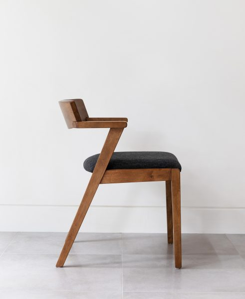 Our Zola dining chair looking stately and sexy.