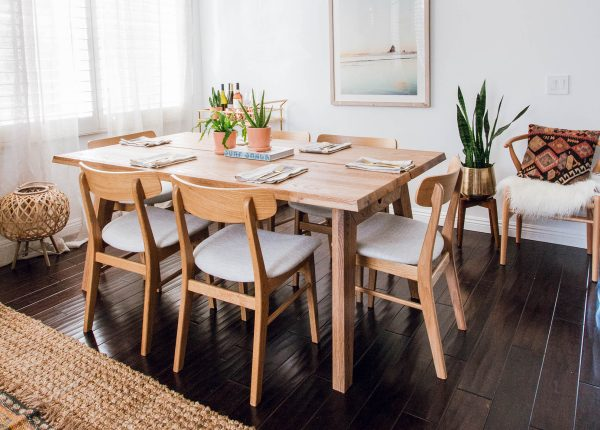 The Ecole dining chair, beautifully paired with our Madera table.