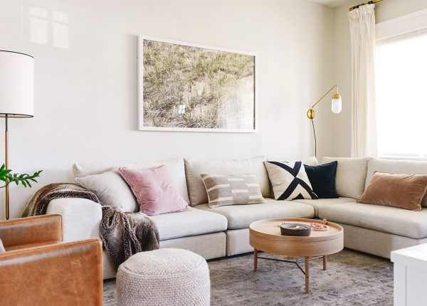 Our friends over at the Yellow Brick Home inject texture with every piece of furniture, but keep it controlled with a limited palette.