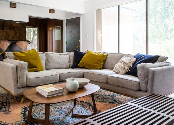 Simply Grove's Corner Ceni Sectional looks cozy and inviting — and big enough to seat the whole family. Spread out, snuggle up, lie down: there's room.