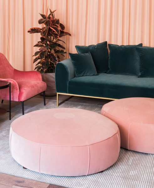"""The combo of the Kits sofa, Orbis ottoman, and Embrace chair is what we in Canada call a furniture sale """"hat trick."""""""