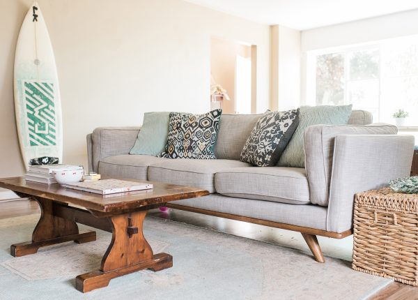 We love the Timber sofa styled in Abby Sterling's easy, Cali-inspired space.