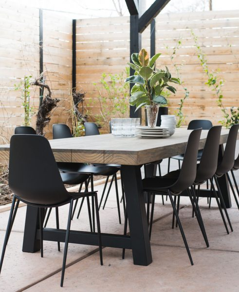 We love how Vintage Revival has styled her Tavola table with statement-black Svelti chairs.