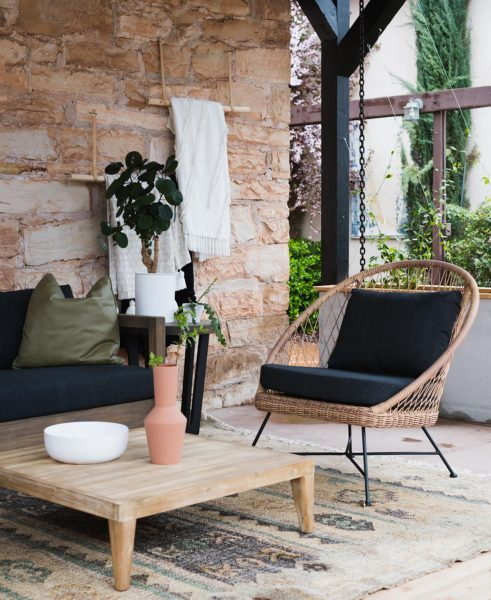 The Aeri lounge chair and the Urba table looking picture-perfect on Vintage Revivals' blog.