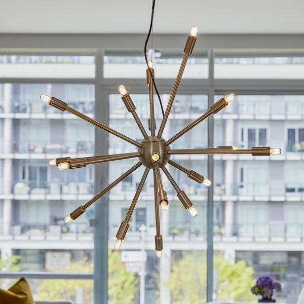 A eye-catching pendant lamp, like the Astra, shines a light on your entire space, from floor to ceiling. You can't help but look up.