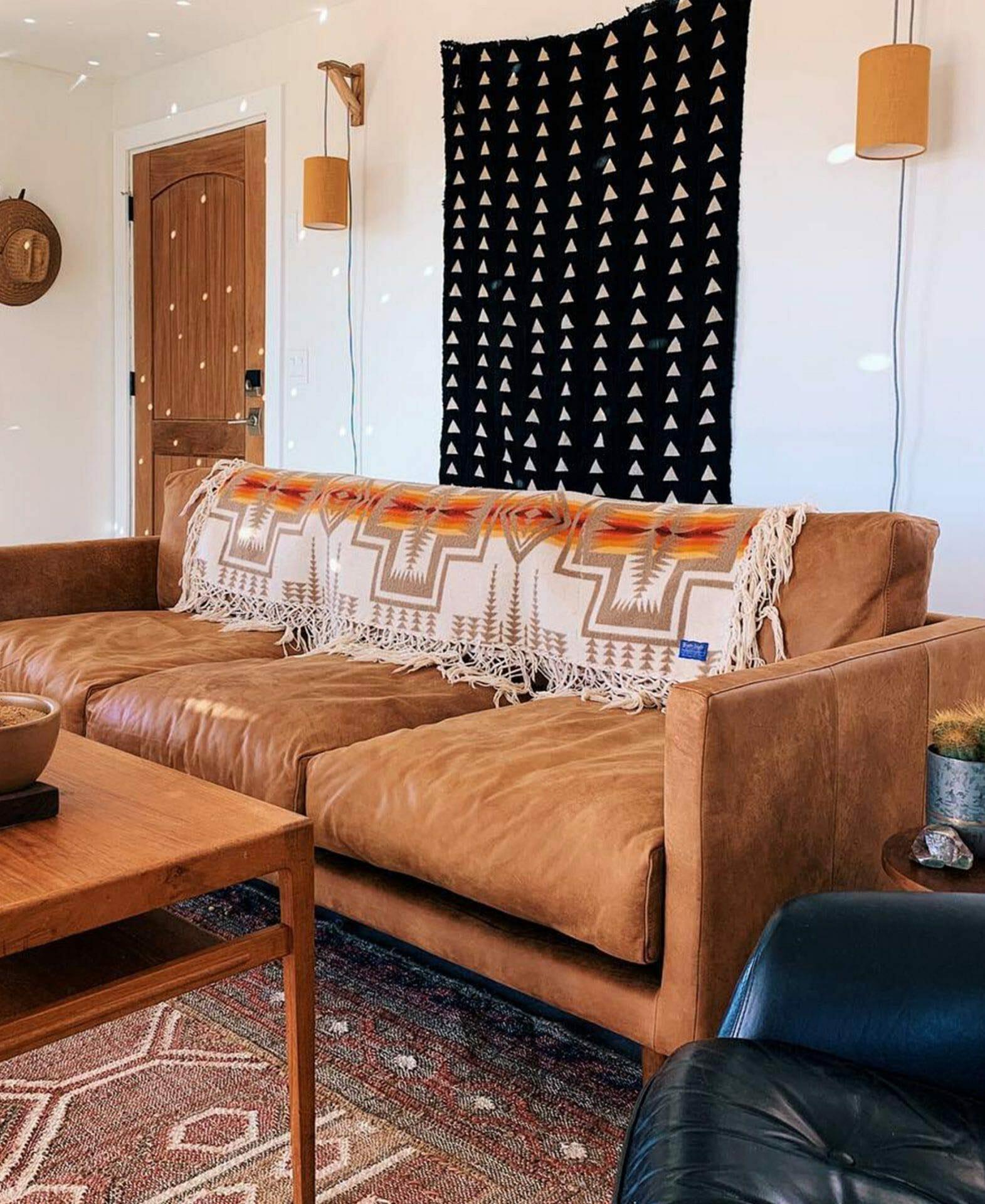 Dakota leather Article sofa from @homesteadhideaway