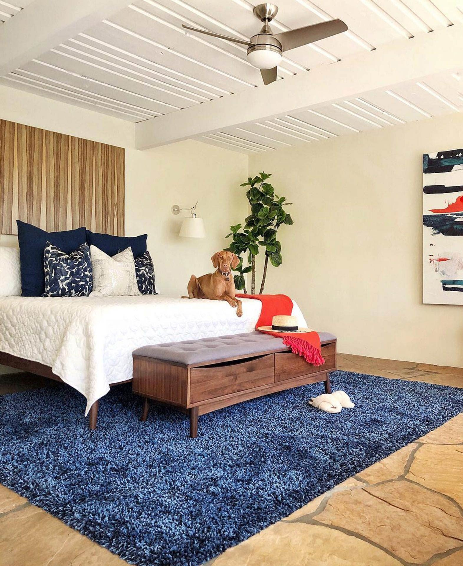 My Style Diaries outfits a bedroom with Article's Culla bench.