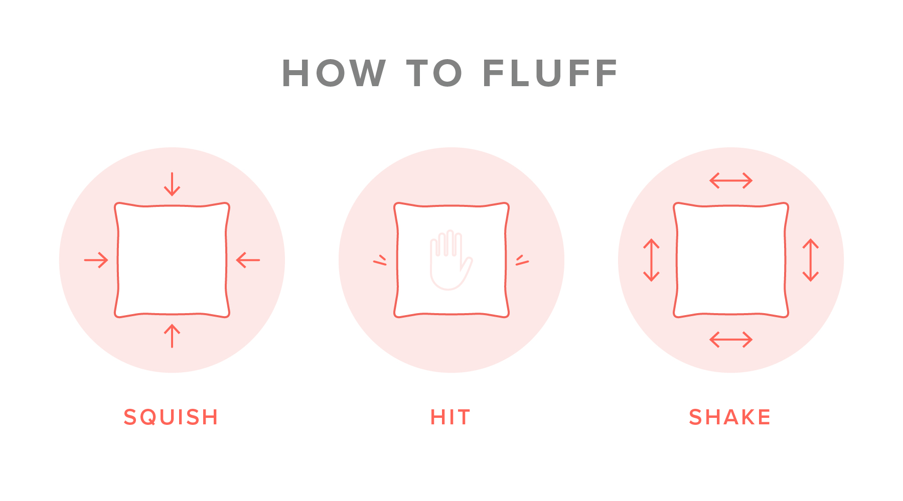 Image showing how to fluff pillows
