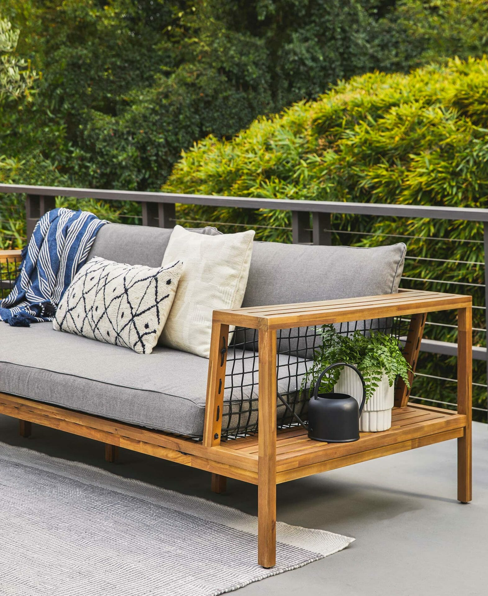 Article's Callais sofa on an outdoor deck