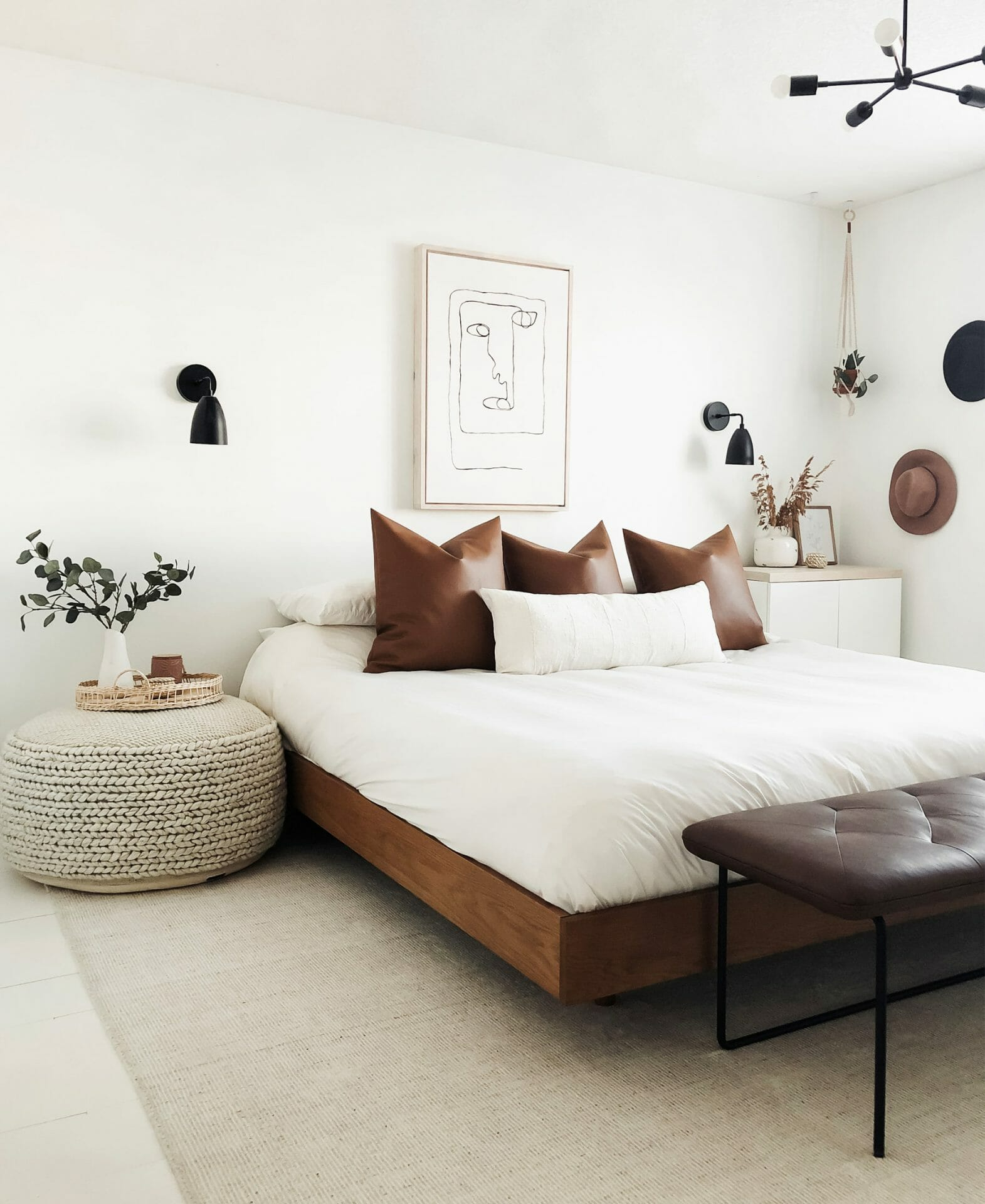 Frankie and Grae's bedroom features the Hira Ottoman.