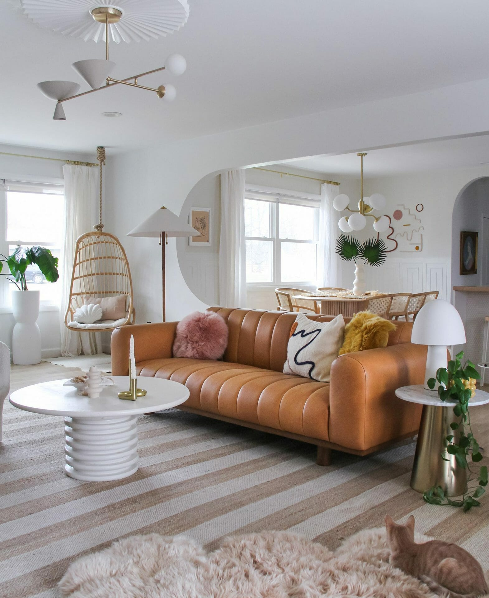 Article's Texada Sofa is featured in Brit Arnesen's living room.