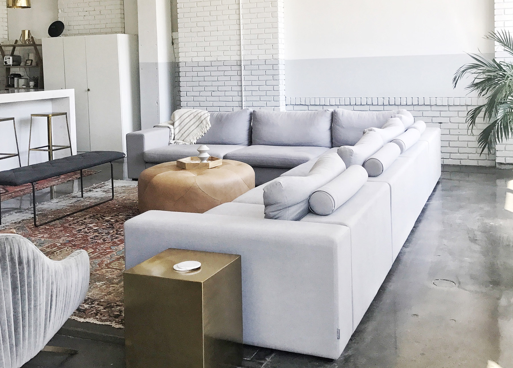 A modular, L-shaped sectional makes a big impact.