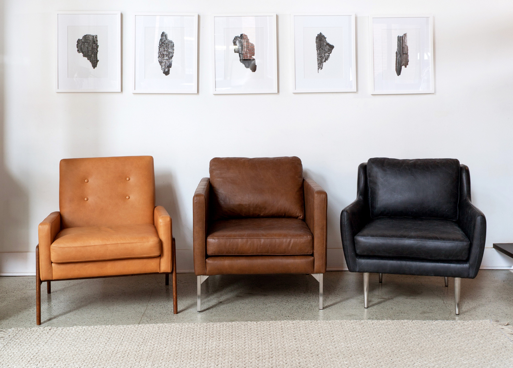 Nord Charme Tan Chair, Echo Oxford Tan Chair, Matrix Oxford Black Chair