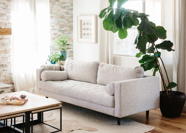 Alex Of Ave Styles Likes The Soft, Light Palette That The Fabric Sven Sofa  In Ivory Brings To Her Space.